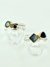 MICHOU Four Sterling Silver Rings with Stones
