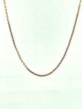 14 Karat Yellow Gold Diamond Cut Cable Chain
