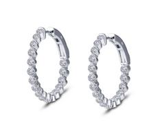 LAFONN 1.70ctw Hoop Earrings
