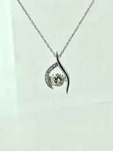 14 Karat White Gold 0.74ct Shimmering Diamond Pendant