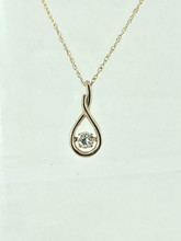 14 Karat Yellow Gold 0.51ct Shimmering Diamond Pendant