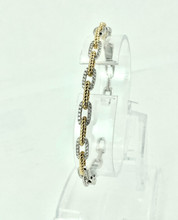 18 Karat Two-Tone 0.61ctw Diamond Bracelet