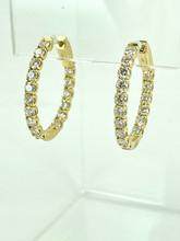 2.77CTW Yellow Gold Diamond Hoops
