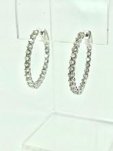 2.90CTW White Gold Diamond Hoops