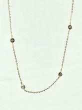 14 Karat Yellow Gold 0.10ctw Diamond Necklace