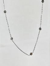14 Karat White Gold 0.10ctw Diamond Necklace