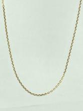 14 Karat Yellow Gold Diamond Cut Open Link Chain