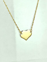 14 Karat Yellow Gold Mini Heart Necklace
