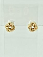 14 Karat Yellow Gold Double Love Knot Earrings