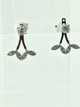 14 Karat White Gold Diamond Earring Jacket
