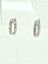 14 Karat White Gold 0.50ctw Diamond Hoops