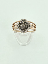 14 Karat Rose Gold Fashion Ring with Chocolate Diamonds