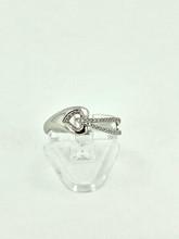 14 Karat White Gold 0.10ctw Diamond Fashion Ring
