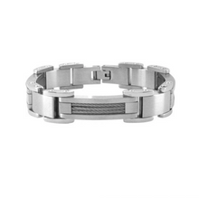 INOX Matte Polish Finished Bracelet with Interconnected Steel Link