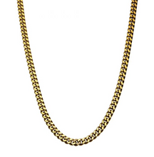 INOX 18K Gold Plated Curb Chain