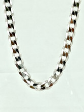 Sterling Silver Curb Rhodium Plated Chain