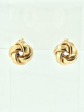 14 Karat Yellow Love Knots Earrings
