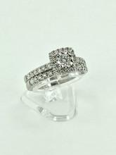 14 Karat White Gold Wedding Set with 1.10ctw Diamonds