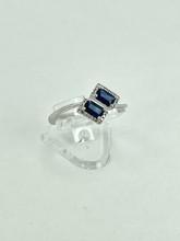 14 Karat White Gold 1.44ctw Sapphire Fashion Ring