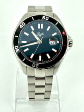 GUILLE Mens Stainless Steel Divers Watch