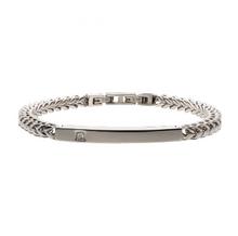 INOX Stainless Steel with Diamond Franco Chain Miami Cuban ID Bracelet