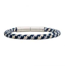 INOX 6mm Blue, Grey and Beige Nylon Cord Bracelet