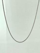 14 Karat White Gold Adjustable Wheat Chain