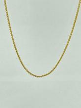 Diamond Cut Wheat 14 Karat Yellow Gold Chain