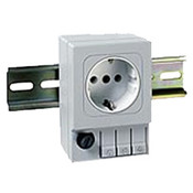 03500.0-00 DIN Rail Mount Fused Receptacle Germany/Russia (6.3A/ 250V) RoHS