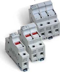 2541100 DIN Rail Fuse Holder 1 Pole 30A 600V LED Blown Fuse Indicator 10x38 mm fuse