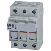 2544100 DIN Rail Fuse Holder 3 Pole 30A 600V AC-22B LED Blown Fuse Indicator 10x38 mm fuse