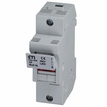 "2561100 : DIN Rail Fuse Holder 1-Pole, 50A, 600V, AC-22B, Blown Fuse Indicator, 9/16""x 2"" fuse"