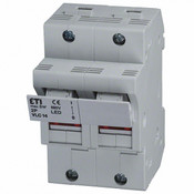 "2563100 : DIN Rail Fuse Holder 2-Pole, 50A, 600V, AC-22B, Blown Fuse Indicator, 9/16""x 2"" fuse"