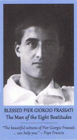 The front of the Bl. Pier Giorgio prayer card.
