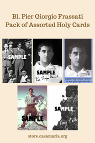Bl. Pier Giorgio Frassati Holy Card: Assorted Pack of 50