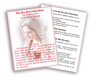 The Five First Saturdays Prayer Card (Pack of 100)