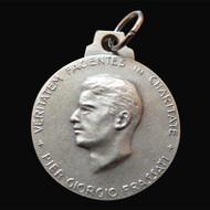 """Silver-Plated Bl. Pier Giorgio Frassati Medals - """"Verso l'Alto!"""""""