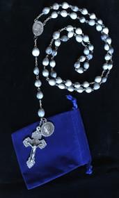 Job's Tear Rosary with Bl. Pier Giorgio Frassati Medal