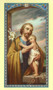 St. Joseph Holy Card, Laminated.