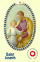 St. Joseph Shrine Card, Laminated. (Cloth touched to his shrine)