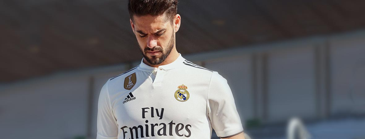 uk availability 6aea4 8be3a Football Nation - Real Madrid Shirts & Kit 2018/19 - adidas