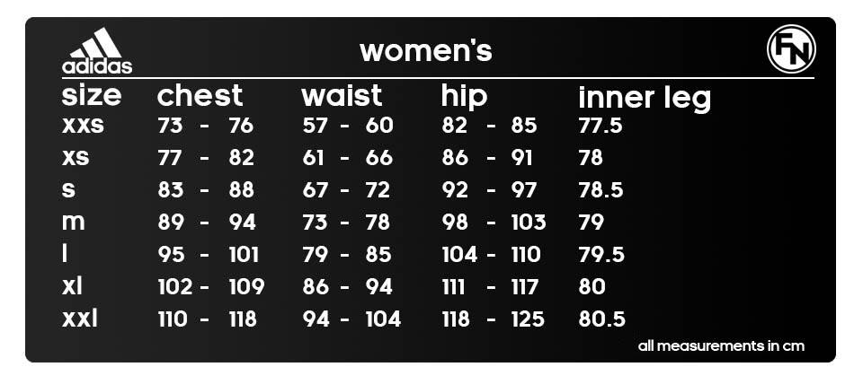 adidas Size Guides - FN Teamwear