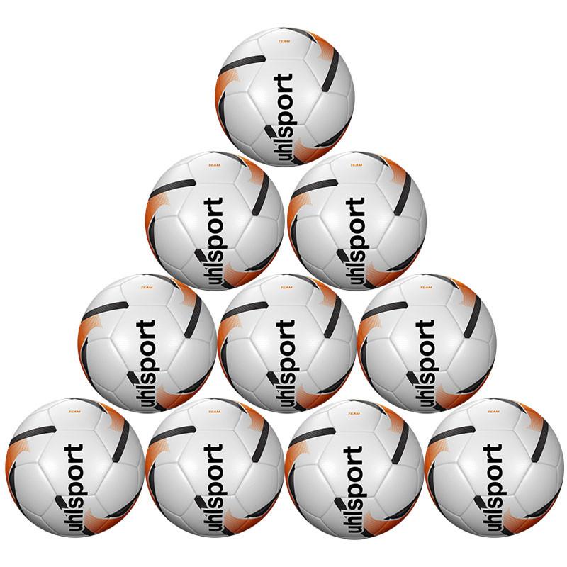 9caea5cb3 Football Bundles - Team Training Ball x 10 - White/Fluo Orange/Black -