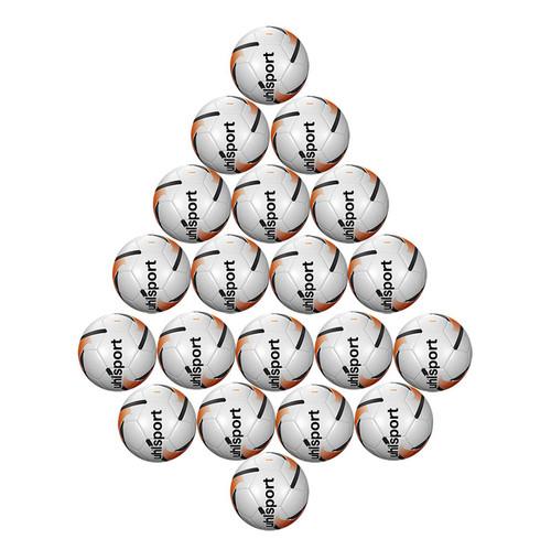 Footballs - Uhlsport Team Training Ball Bundle x 20 - White/Fluo Orange/Black