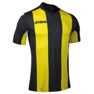 Joma Pisa V Football Shirt (Black/Yellow)