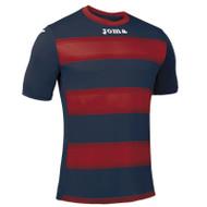 Joma Europa III Football Shirt (Navy/Red)