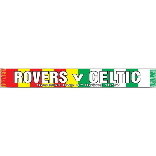 Albion Rovers v Celtic Scottish Cup Scarf 2016
