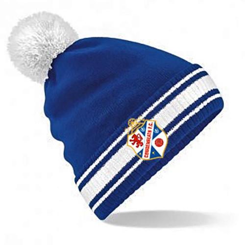 Cowdenbeath Bobble Beanie Hat