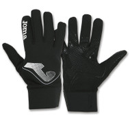 Joma Silicone-Tipped Player Gloves - Black - Equipment