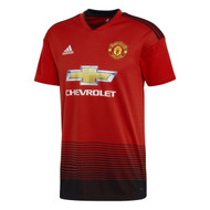 Front view of the adidas Manchester United home shirt for 2018/19